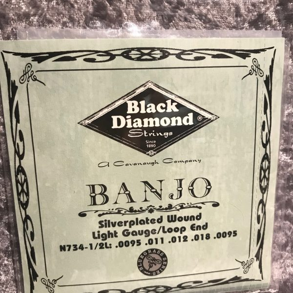 Black Diamond Silver Plated Banjo