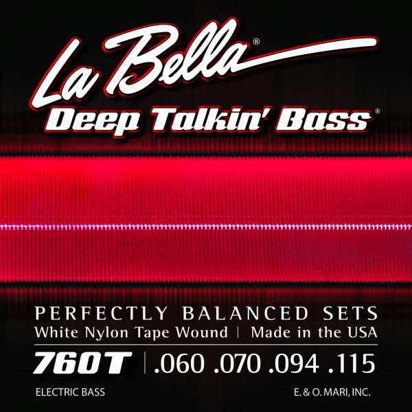La Bella 760T Deep Talkin' Bass white nylon tape