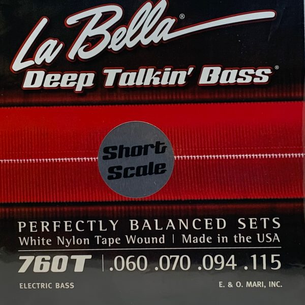 La Bella 760T-S Deep Talkin' Bass White Nylon Tape short scale