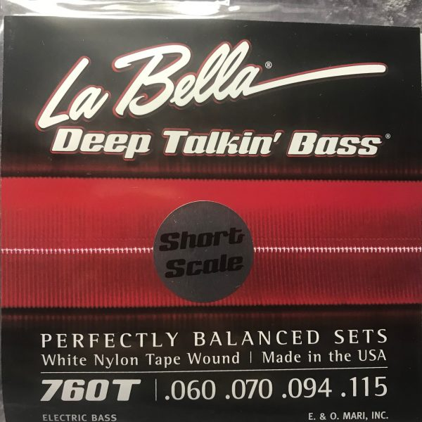 La Bella 760T-S Deep Talkin' Bass White Nylon Tape short scale