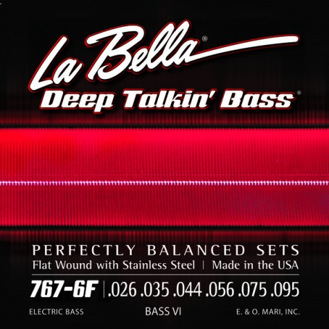 La Bella 767-6F Deep Talkin' Bass VI flat wound