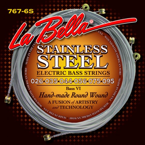 La Bella 767-6S Bass VI stainless steel