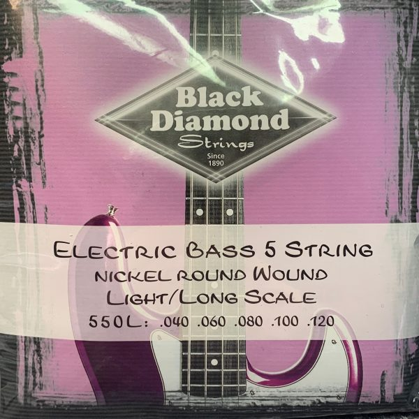 Black Diamond 550L Nickel Round Wound Light 5 string