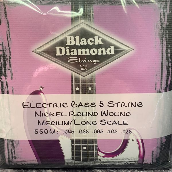 Black Diamond 550M Nickel Round Wound Medium 5 string