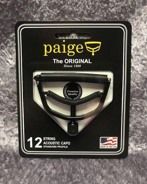Paige P12-E 12 string acoustic capo standard profile