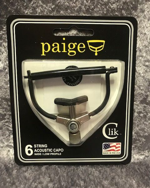 Paige PC-6-2.250-R 6 string acoustic Clik capo wide/low profile