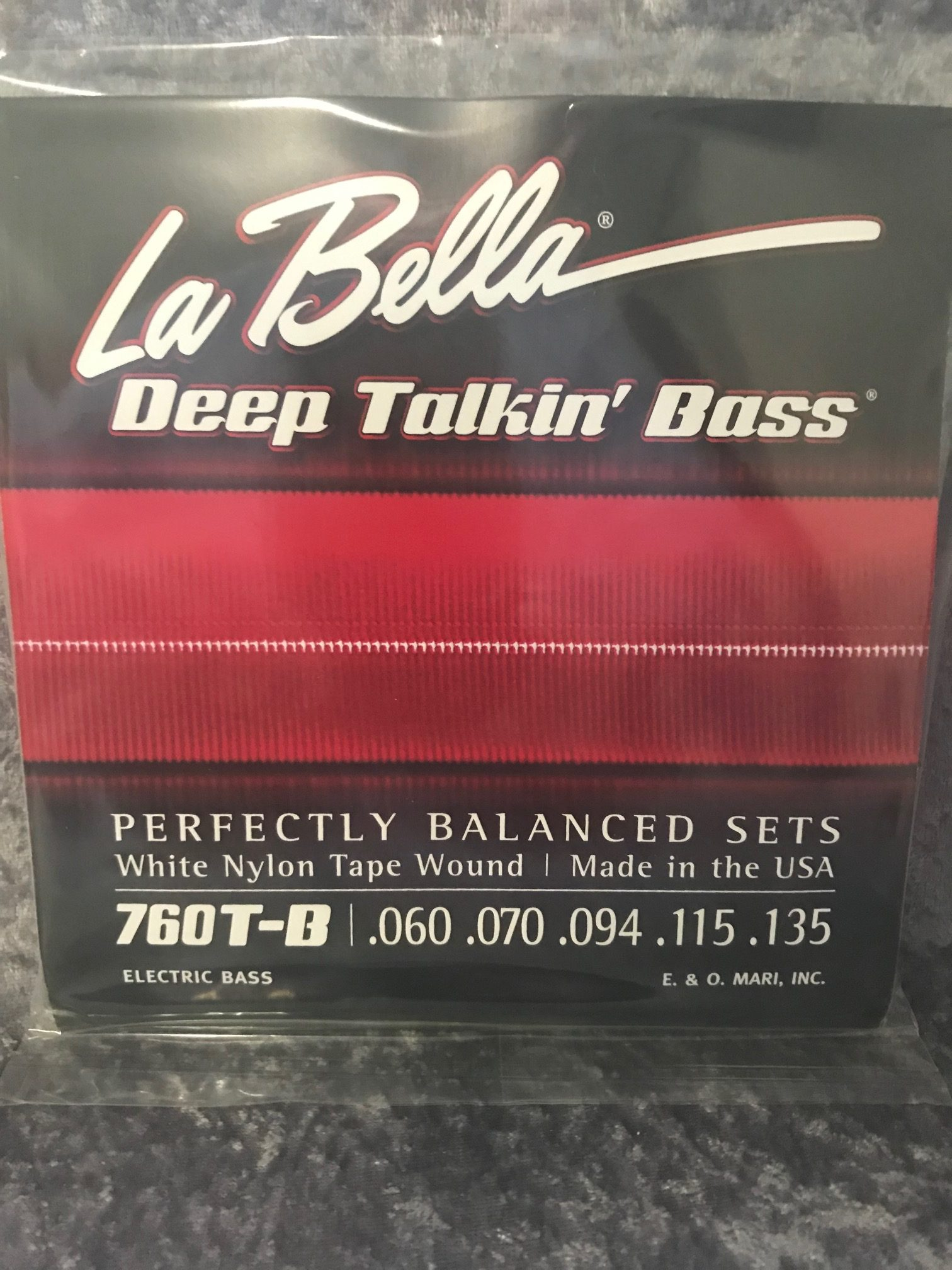 la bella 760t b deep talkin bass white nylon tape 5 string prospec. Black Bedroom Furniture Sets. Home Design Ideas