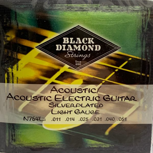 Black Diamond N754L Silver Plated Acoustic/Electric