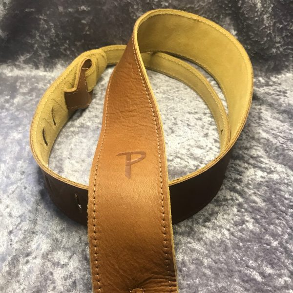 Perri's 2″ soft leather tan strap
