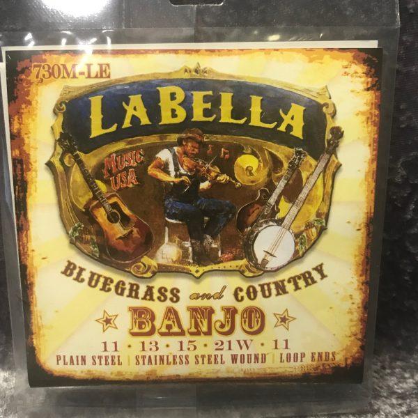 La Bella 730M-LE Banjo stainless steel loop ends