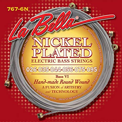 La Bella 767-6N Bass VI nickel round wound