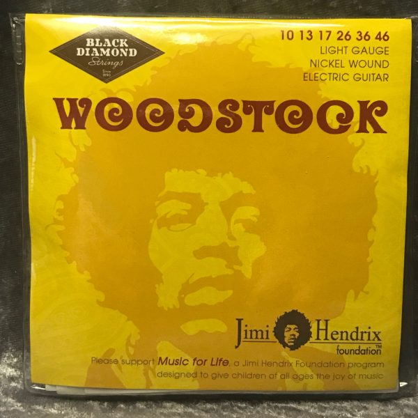 Black Diamond Jimi Hendrix Foundation electric guitar strings 10-46