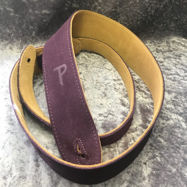 Perri's 2″ Purple Soft Suede guitar strap