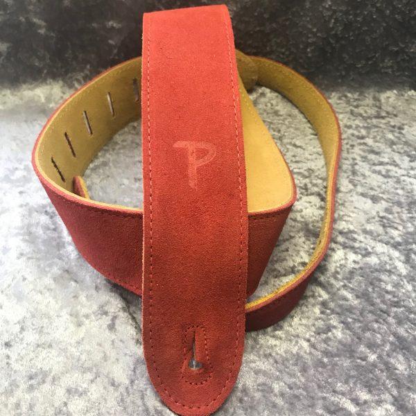 Perri's 2″ Red Soft Suede guitar strap