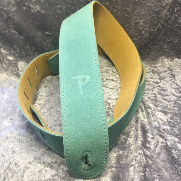 Perri's 2″ Surf Green Soft Suede guitar strap