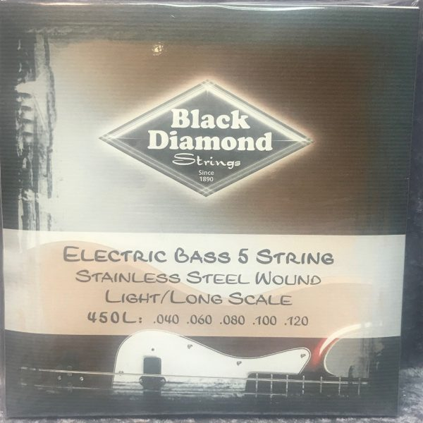 Black Diamond 450L stainless steel 5 string bass set