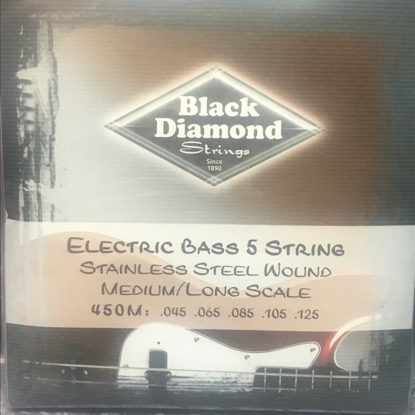 Black Diamond 450M stainless steel 5 string bass set