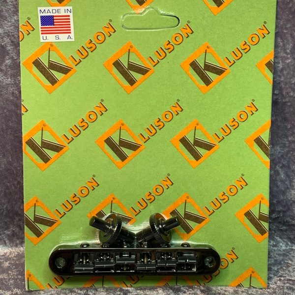Kluson KNTOM-B Nashville Tune-o-Matic bridge Black Zinc