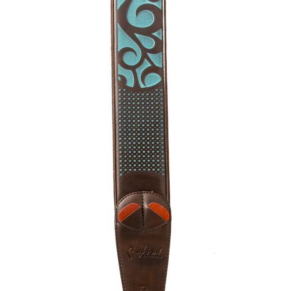 Right On! MOJO NASHVILLE vegan guitar strap teal
