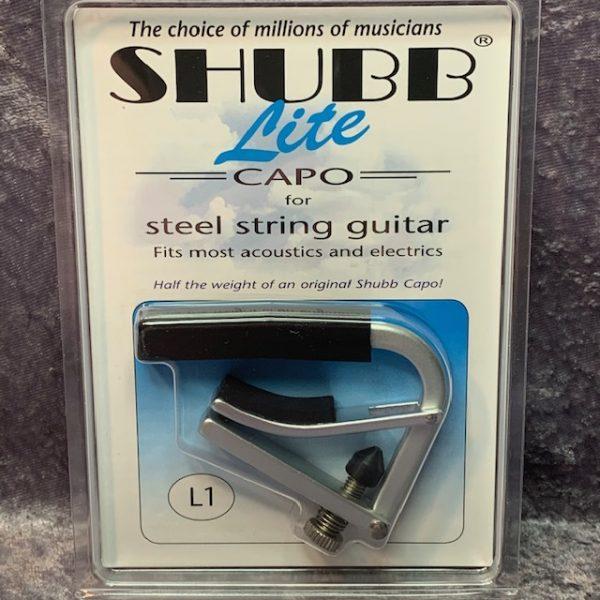 Shubb L1 Lite Capo Silver