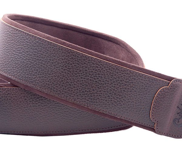 Right On! JAZZ GRAHAM leather guitar strap brown