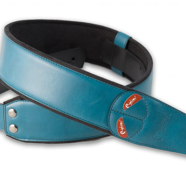 Right On! MOJO CHARM vegan guitar strap teal