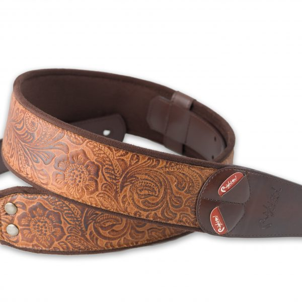 Right On! MOJO SANDOKAN vegan guitar strap woody