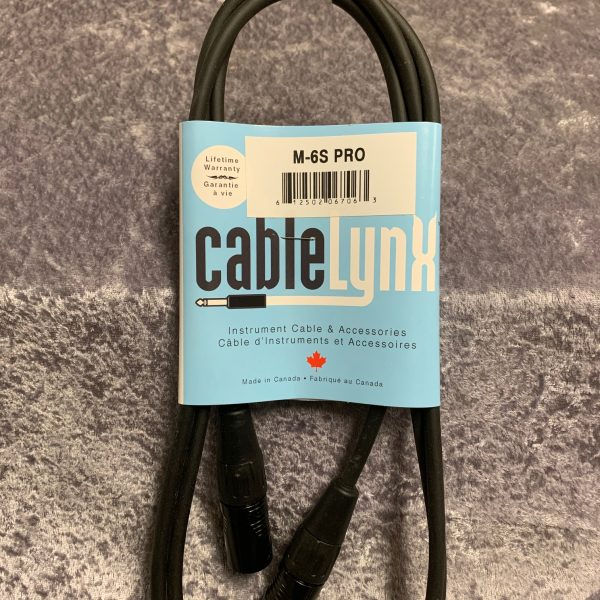 Cable Lynx 6′ 24 gauge Mic cable