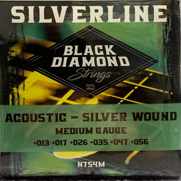 Black Diamond N754M Silver Plated Acoustic/Electric