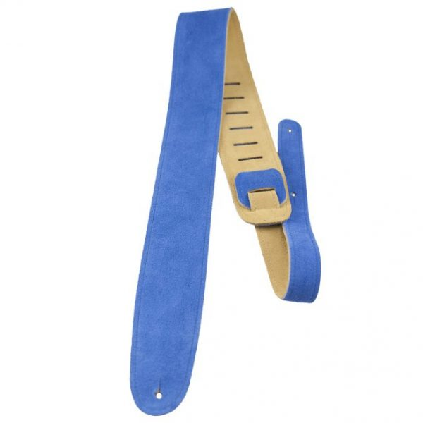 Perri's 2.5″ Blue soft suede guitar strap