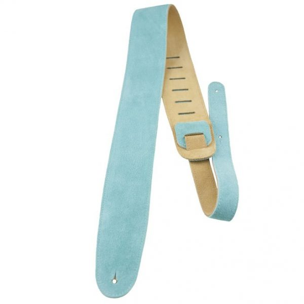 Perri's 2.5″ Teal soft suede guitar strap