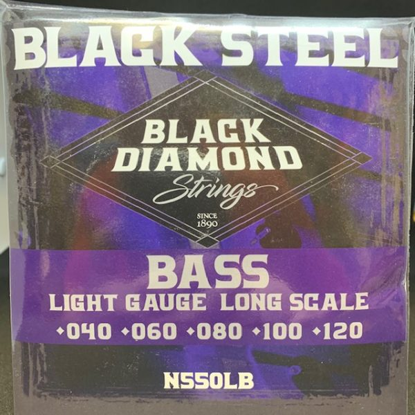 Black Diamond 550LB Black Coated Nickel Round Wound Light 5 string