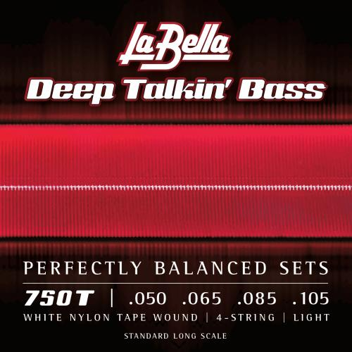 La Bella 750T White Nylon Tape Wound 50-105
