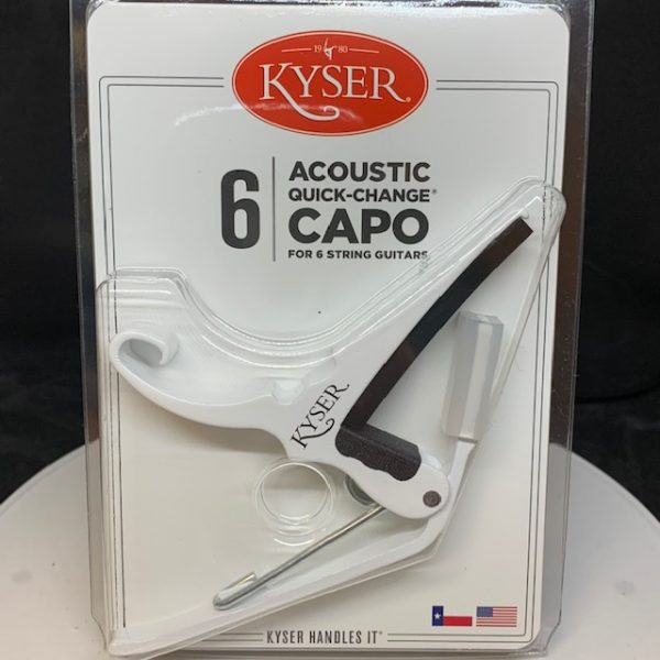Kyser Acoustic Capo Pure White