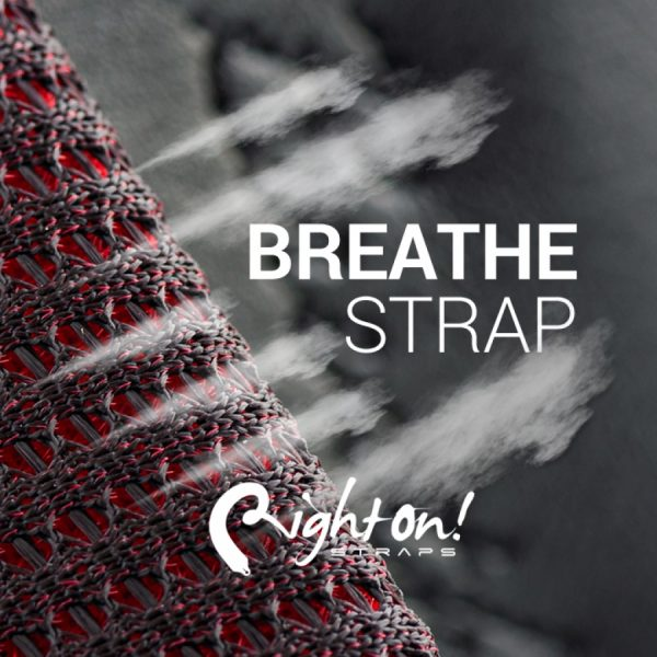 Right On Breathe Red Guitar/Bass Strap