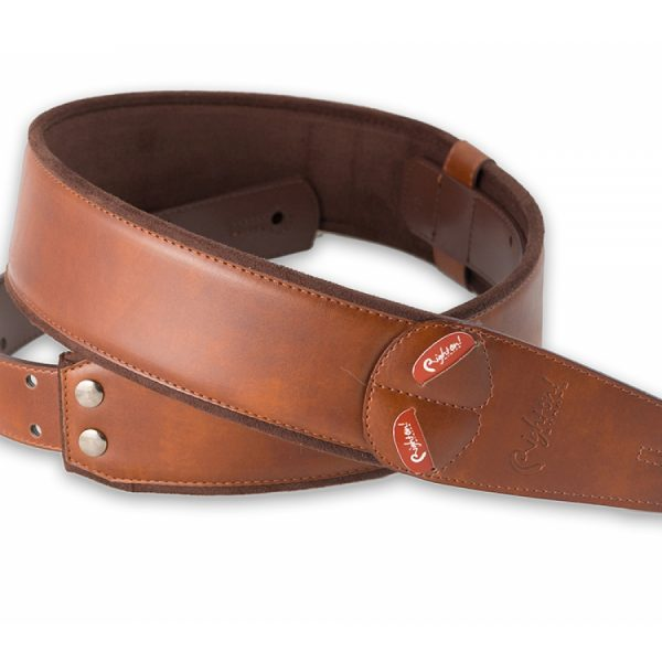 Right On Mojo Charm Guitar Strap Brown
