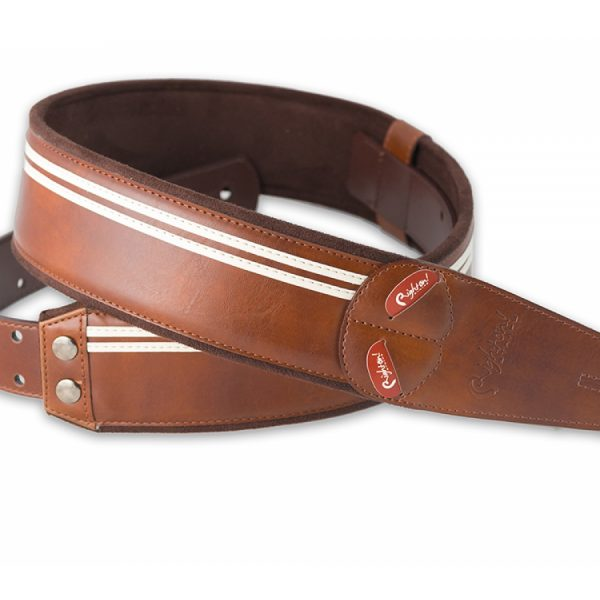 Right On Mojo Race Guitar Strap Brown