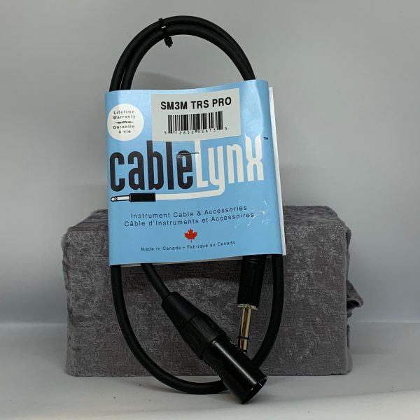 Cable Lynx 3′ XLR, TRS Patch Cable
