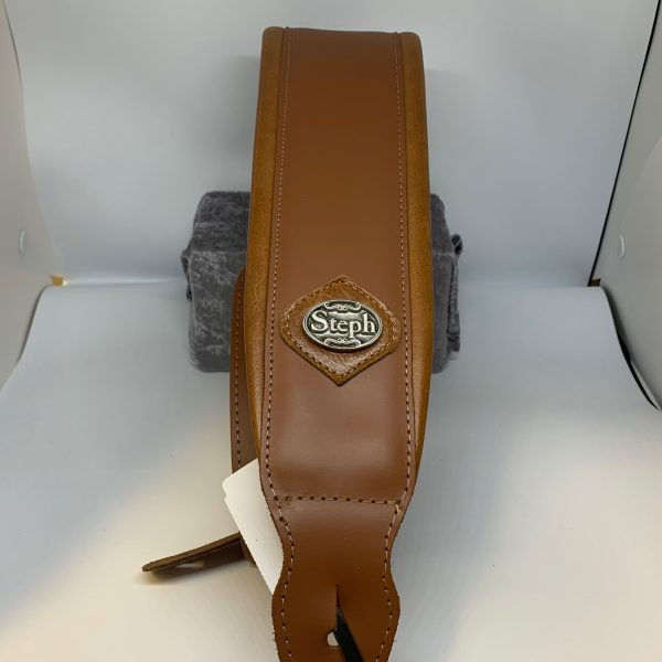 Steph Accessories GT1026 Cognac padded guitar strap