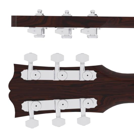 Hipshot Guitar Tuner Upgrade Kit for 3+3 Headstocks (10mm Post Holes)