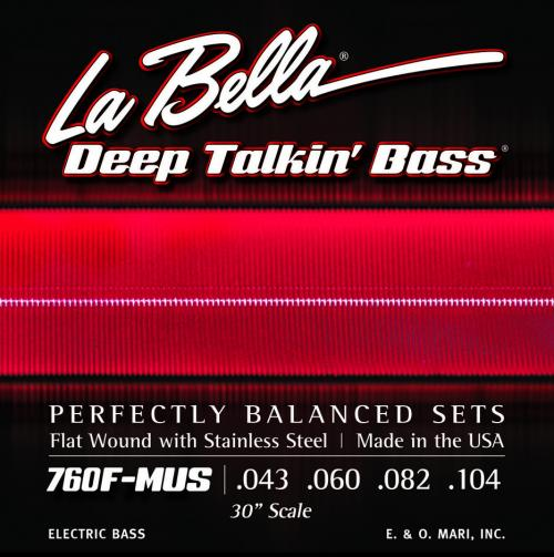 La Bella 760F-MUS Stainless Steel Flat Wound 30″ Scale